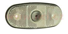 poziční světlo oválné bílé pro žárovku W5W 12/24V TRUCK  L=P