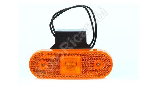 Pozičné svetlo oranžové obdĺžnikové, LED s držiakom