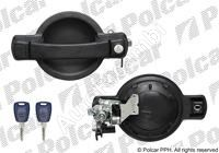 Door handle Fiat Doblo 2000-10 rear, left, without centr. lock, wing door, with barrel