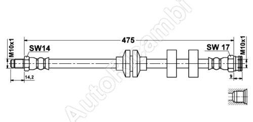 Brzdová hadica Fiat Doblo predná