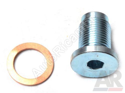 Oil pan drain plug Fiat Ducato 2006- 2,0 JTD / Doblo 2000-10 1,9 JTD M18x1,5 mm