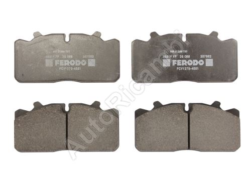 Brake pads Iveco EuroCargo 120 front / rear
