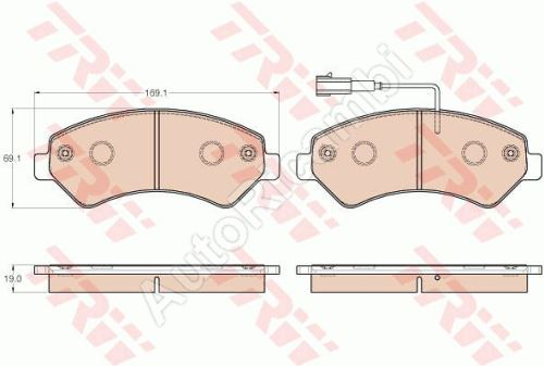 Brake pads Fiat Ducato 250 MY 2014 front Q17H
