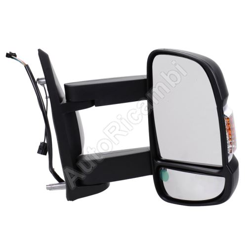Mirror Fiat Ducato 250, 2014> right, long, electric, 16W, with antenna (190mm)