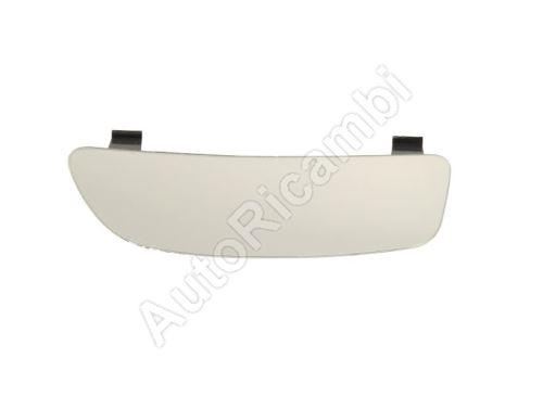 Sklo zrkadla Fiat Doblo 2010> ľavé, spodné, vyhrievané, s držiakom