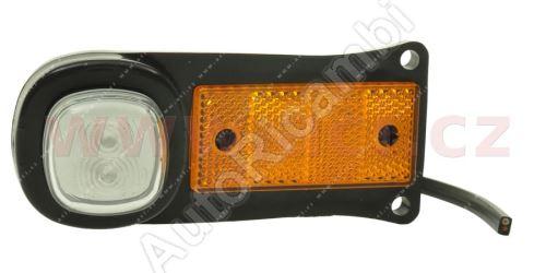 boční poziční světlo LED oranžové s držákem a odrazkou 12/24V TRUCK  L=P