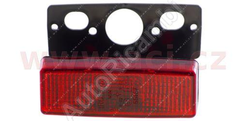 boční poziční světlo červené s obj. a pravoúhlým držákem TRUCK  L=P