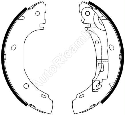 Brake shoes Fiat Ducato 244 - drum brake