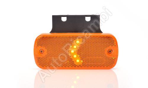 Obrysové svetlo oranžové obdĺžnikové, LED s držiakom