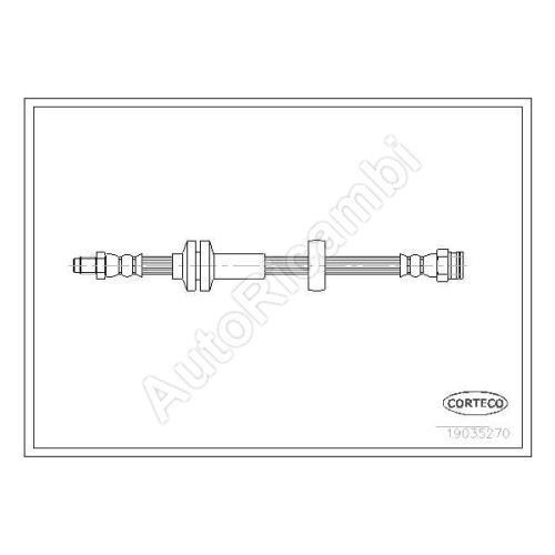 Brake hose Fiat Ducato 250/2014> front L = 515 mm