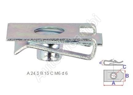 Fiat Ducato 250 clip - pack of 10 pieces