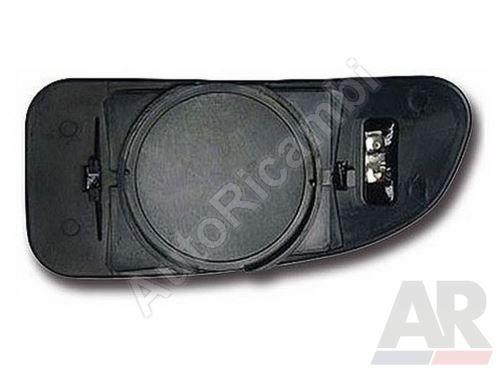 Mirror glass Fiat Ducato 230/244, left, small, heated
