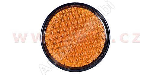 univerzální odrazka kulatá, plastový držák se šroubem, oranžová (průměr 60mm) TRUCK