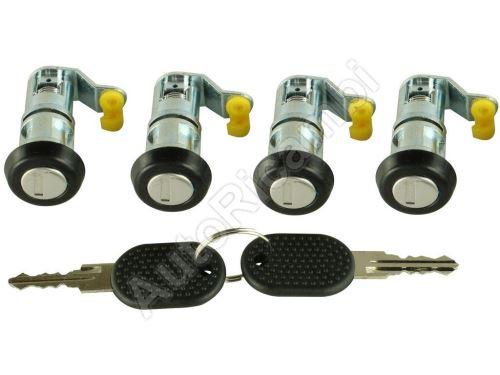 Sada vložiek zámkov dverí Iveco Daily (2x kľúč, 4x vložka s obalom)