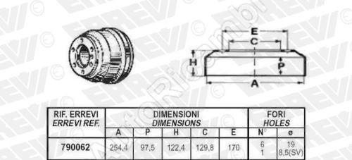 Brzdový bubon Iveco TurboDaily