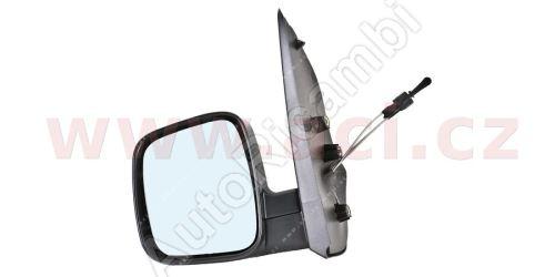 Spätné zrkadlo Fiat Fiorino 2007– ľavé, manuálne, čierne