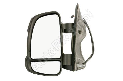 Spätné zrkadlo Fiat Ducato od 2011 ľavé krátke 80mm, elektrické so snímačom, 16W, 10-PIN