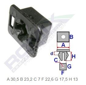 Fiat Ducato 244 headlamp clip
