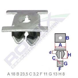 Engine lower cover clamplip Fiat Ducato 250/2014> - set 10 pcs