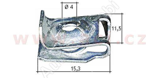 Kovová príchytka (10ks)