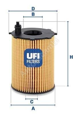 Olejový filter Fiat Scudo 1,6JTD 07> Euro4,5