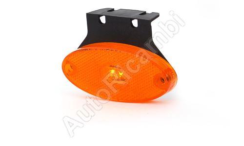 Pozičné svetlo oranžové oválne, LED s držiakom