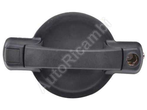 Outer sliding door handle Fiat Doblo 2000-10 black, right