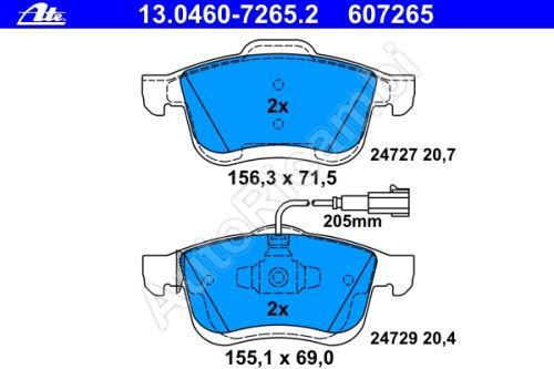 "Brake pads Fiat Doblo 2010 ATE, front, ""specific"""