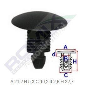 Príchytka plastových krytov Fiat Ducato 230/244/250/2014> - balenie 10 ks