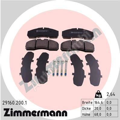 Brake pads Iveco Daily 2000 65C front