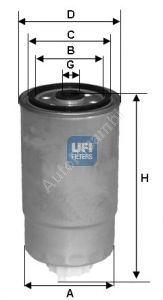 Fuel filter Alfa 147, Alfa 156 1,9JTD