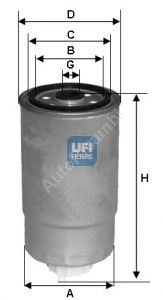 Palivový filter Alfa 147, Alfa 156 1,9JTD