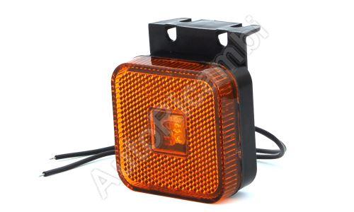 Pozičné svetlo oranžové štvorcové, LED s držiakom