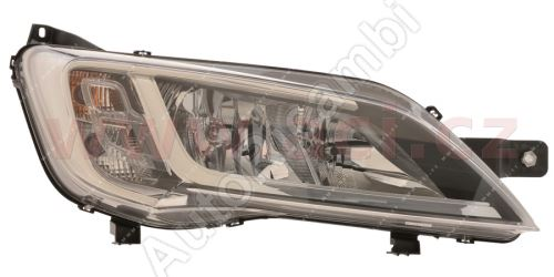 Svetlomet Fiat Ducato 2014 pravé H7+H7+LED čierne OEM