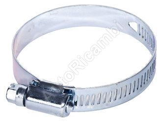 A perforated hose clip type W1, 130-152mm