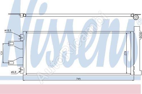 Kondenzátor klimatizácie Fiat Ducato 250 2,0/2,2/2,3/3,0 [710*292*16]