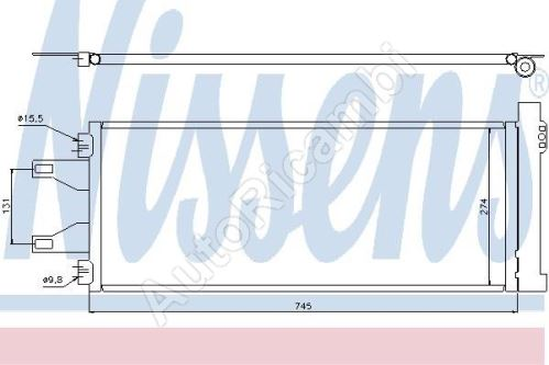 Kondenzátor klimatizácie Fiat Ducato 250 [710*292*16]
