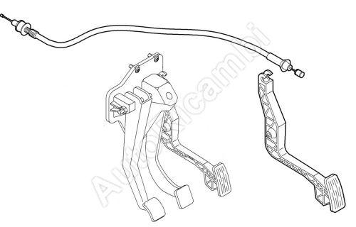 Lanko plynu Fiat Ducato 230-2,8 TD