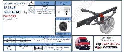 Additional air suspension Iveco Daily 35S (leaf spring over axle)