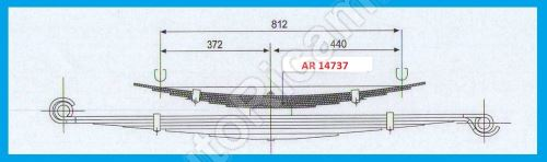 Leaf spring Iveco Daily 35/50C Truck - additional 6 leaf