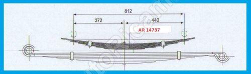 Listové pero Iveco Daily 35/50C Valník - prídavné 6 listové, šírka 60mm