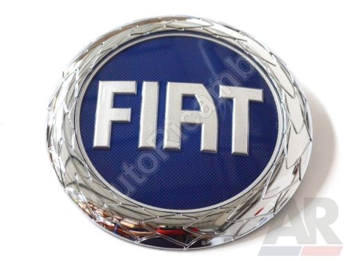 Front emblem logo Fiat Ducato 250 blue 120 mm