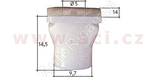 plastová příchytka s vnitřním závitem (10ks)