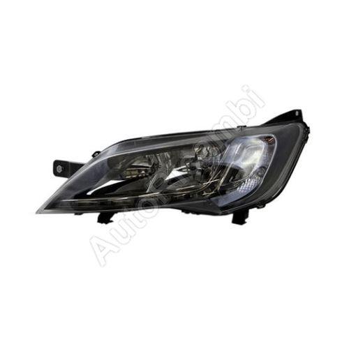 Headlight Fiat Ducato 2014 left H7 + H7 + LED black frame