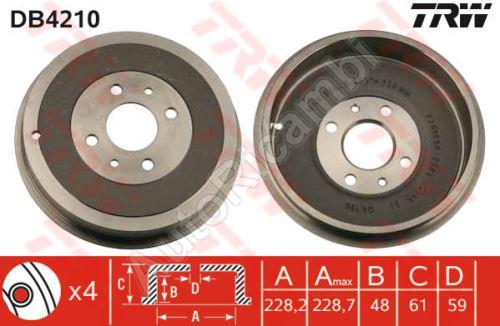 Brzdový bubon Fiat Doblo 2000-09 zadný