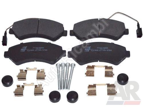 Brzdové doštičky Fiat Ducato 250/2014> predné Q17H - dva senzory