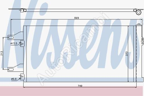 Chladič klimatizácie Fiat Ducato 250