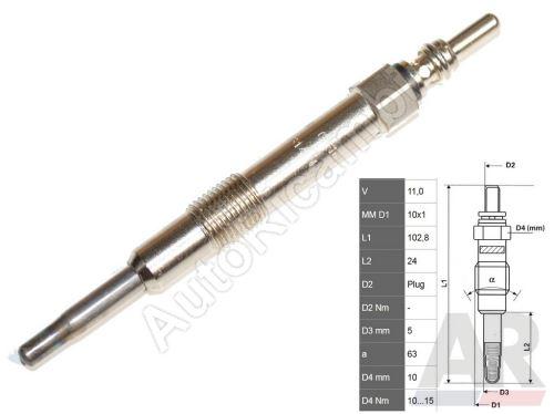 Glow plug Fiat Doblo 1,9 JTD 74/77kW