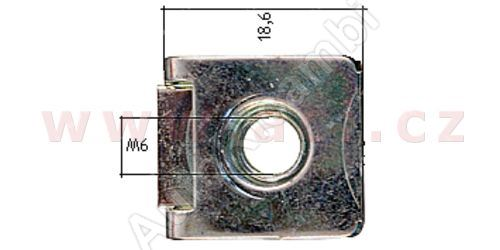 kovová příchytka s vnitřním závitem (10ks)