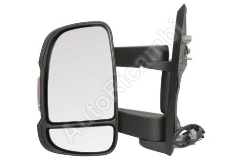 Mirror Fiat Ducato 2014 left, medium, electric 16W with temperature sensor  (155mm)
